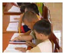 Bild: Lernende Kinder
